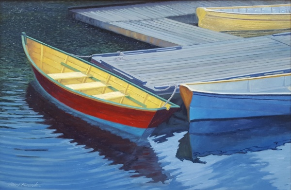 80531c_bronk_k_20x30_dories_tied_at_dock